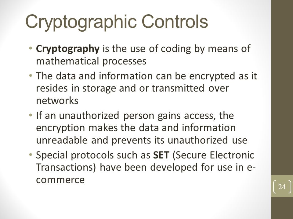 Cryptographic Controls