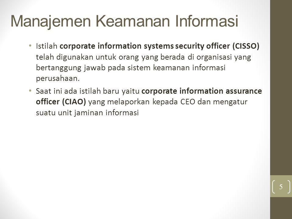Manajemen Keamanan Informasi