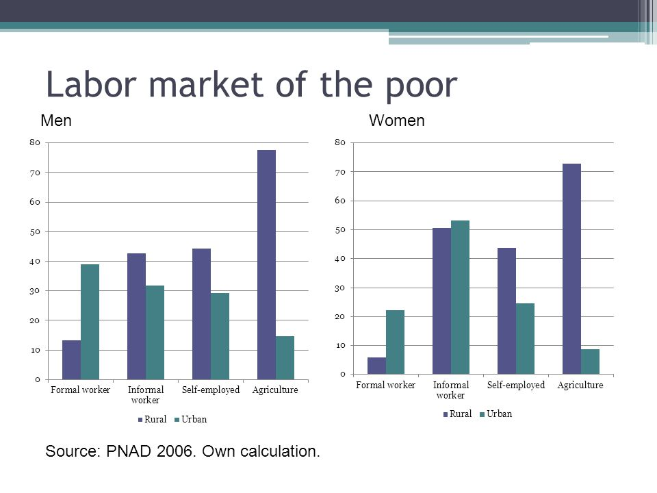 Labor market of the poor