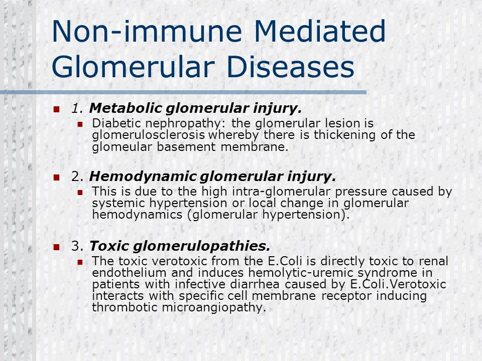 Non-immune Mediated Glomerular Diseases