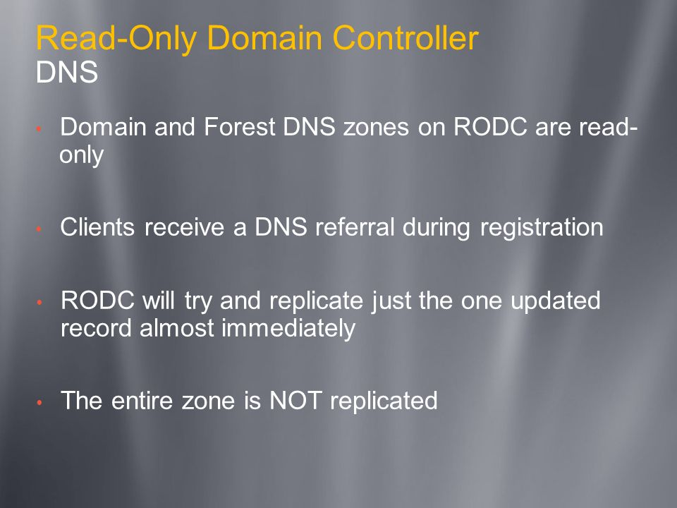 Read-Only Domain Controller DNS