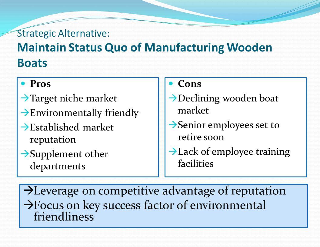 Leverage on competitive advantage of reputation