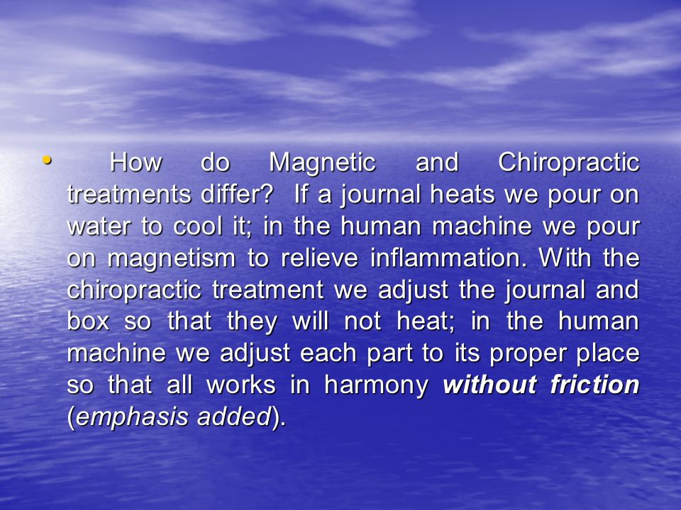 How do Magnetic and Chiropractic treatments differ