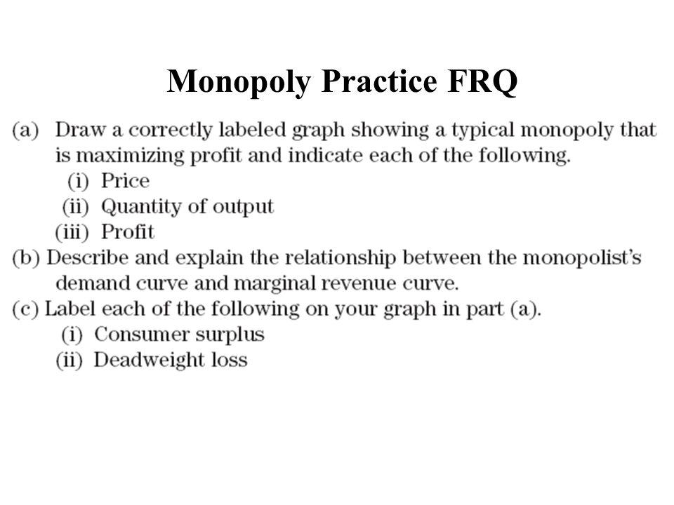 Monopoly Practice FRQ