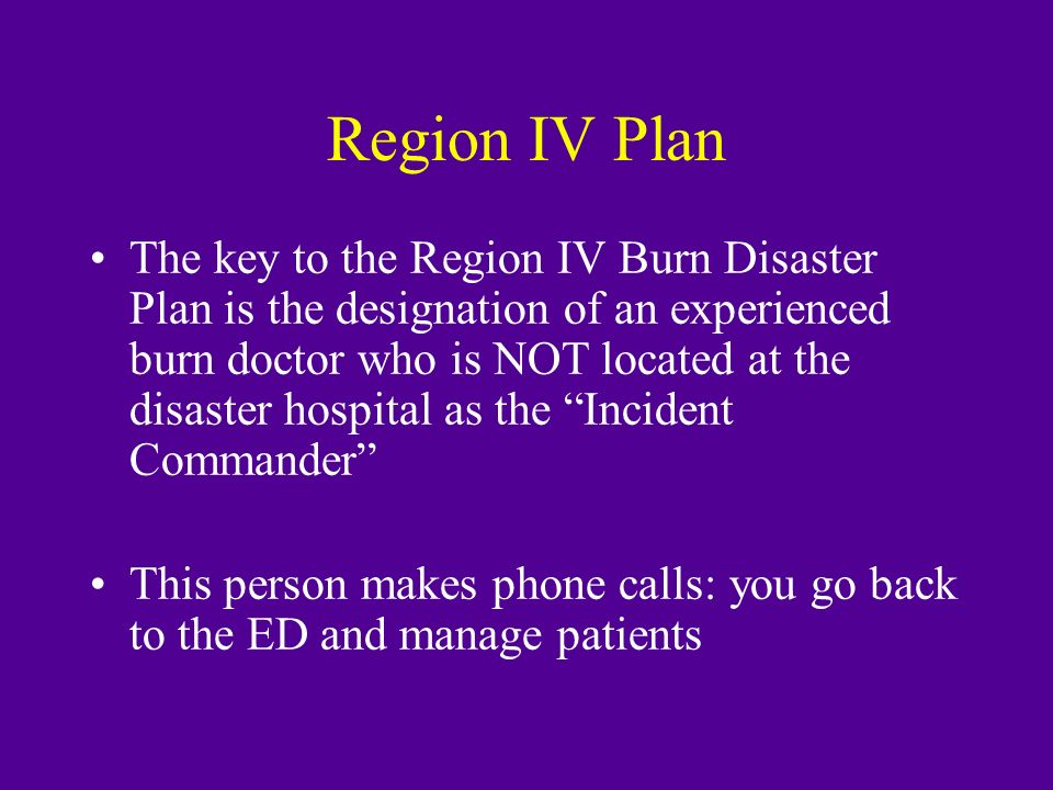 Region IV Plan