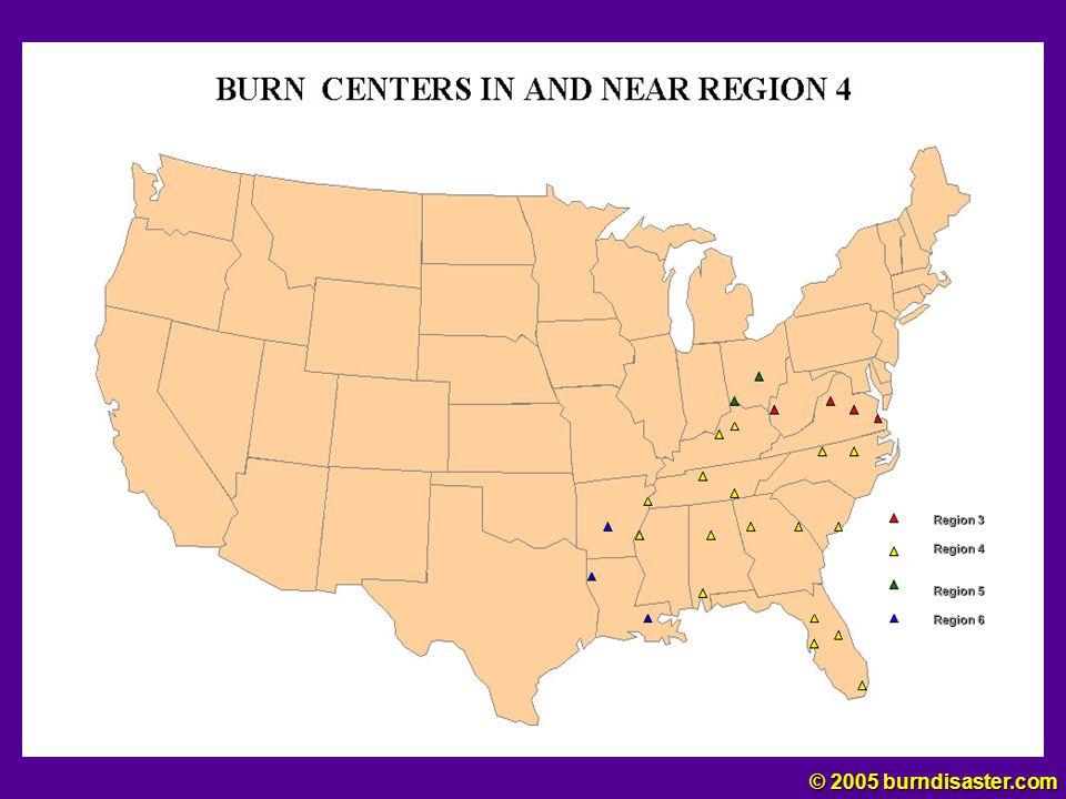 Region IV Region 3 Region 4 Region 5 Region 6 © 2005 burndisaster.com