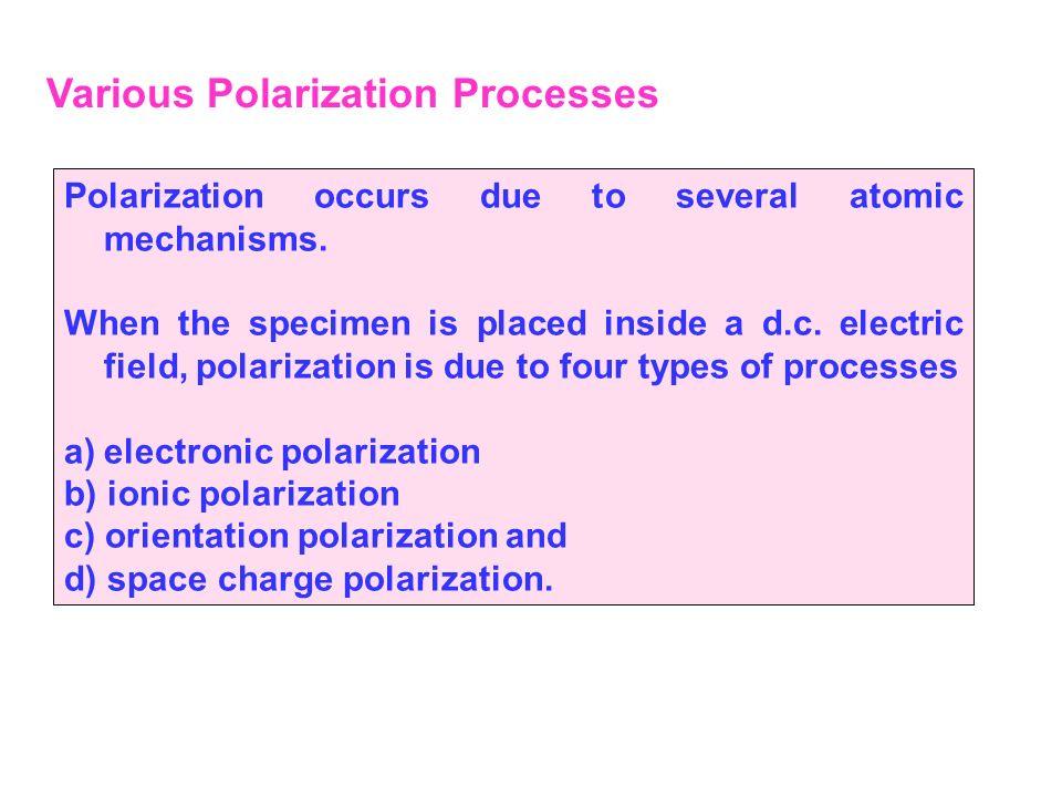 Various Polarization Processes