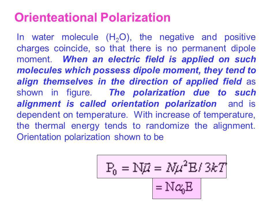 Orienteational Polarization