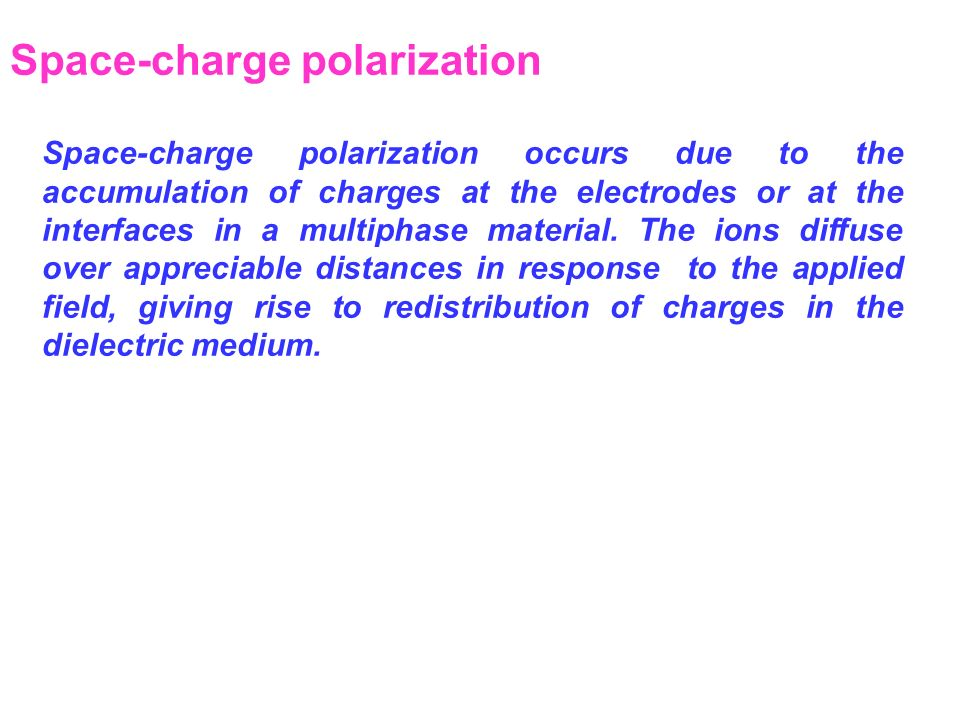 Space-charge polarization