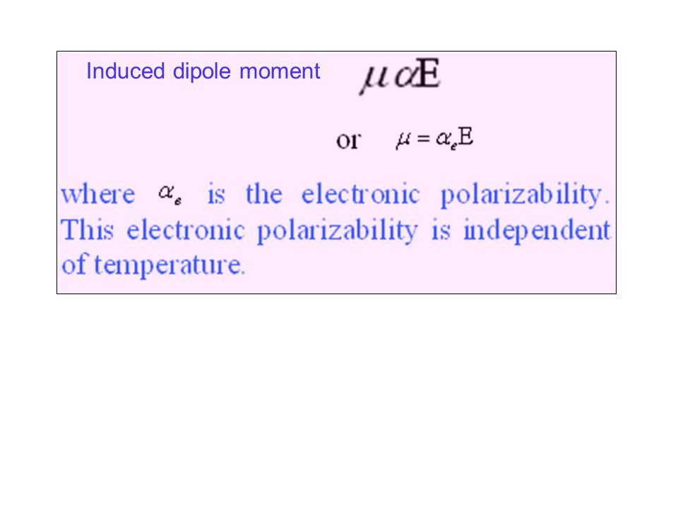 Induced dipole moment