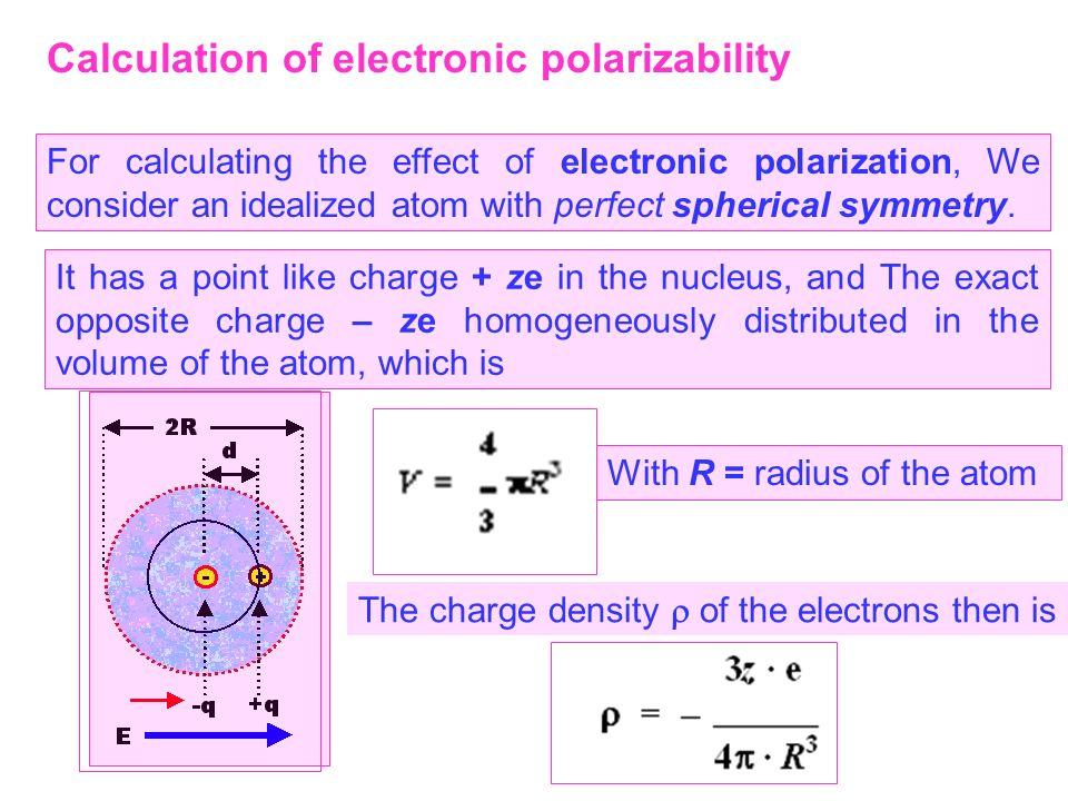 Calculation of electronic polarizability