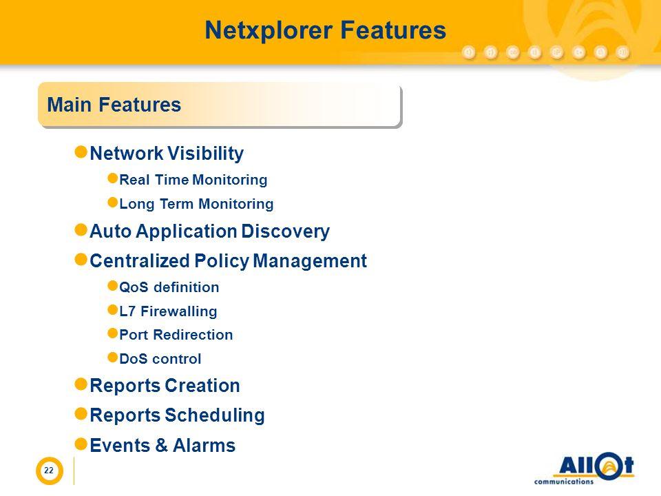Netxplorer Features Main Features Network Visibility