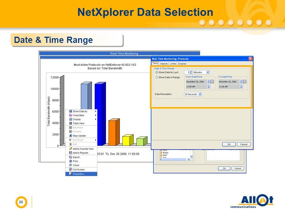 NetXplorer Data Selection
