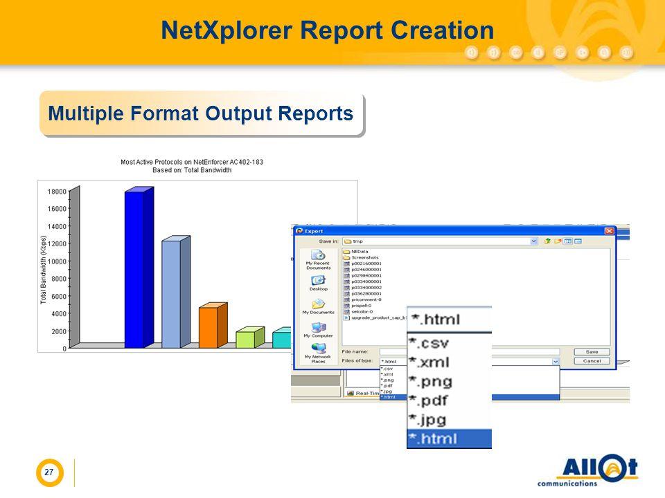 NetXplorer Report Creation