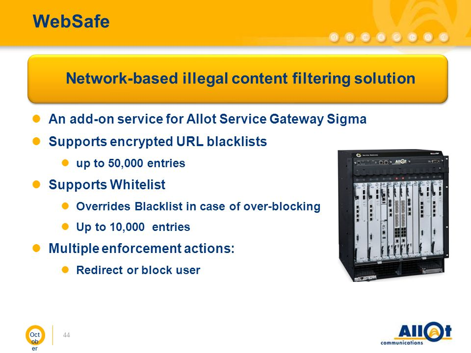 Network-based illegal content filtering solution