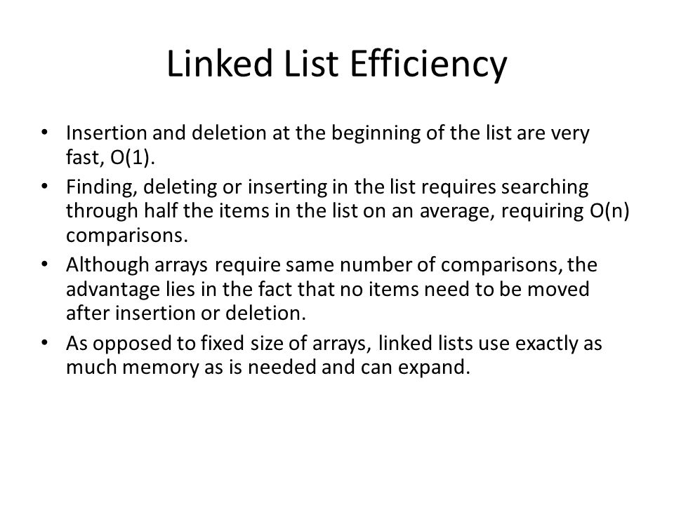 Linked List Efficiency