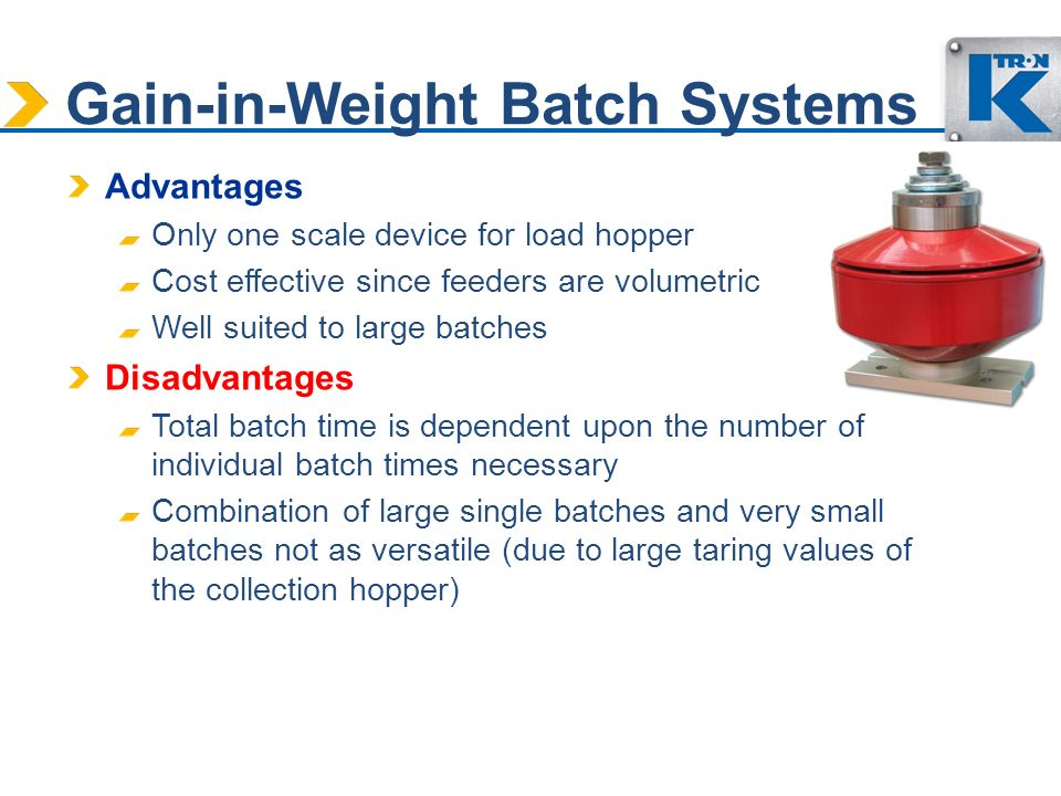 Gain-in-Weight Batch Systems