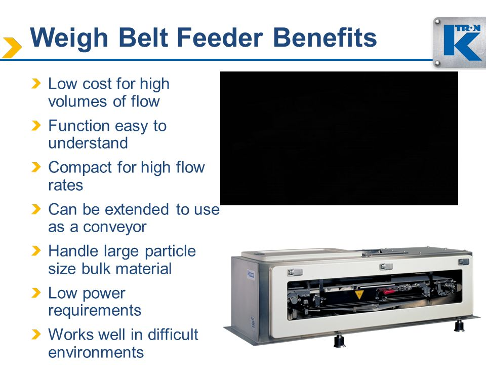 Weigh Belt Feeder Benefits