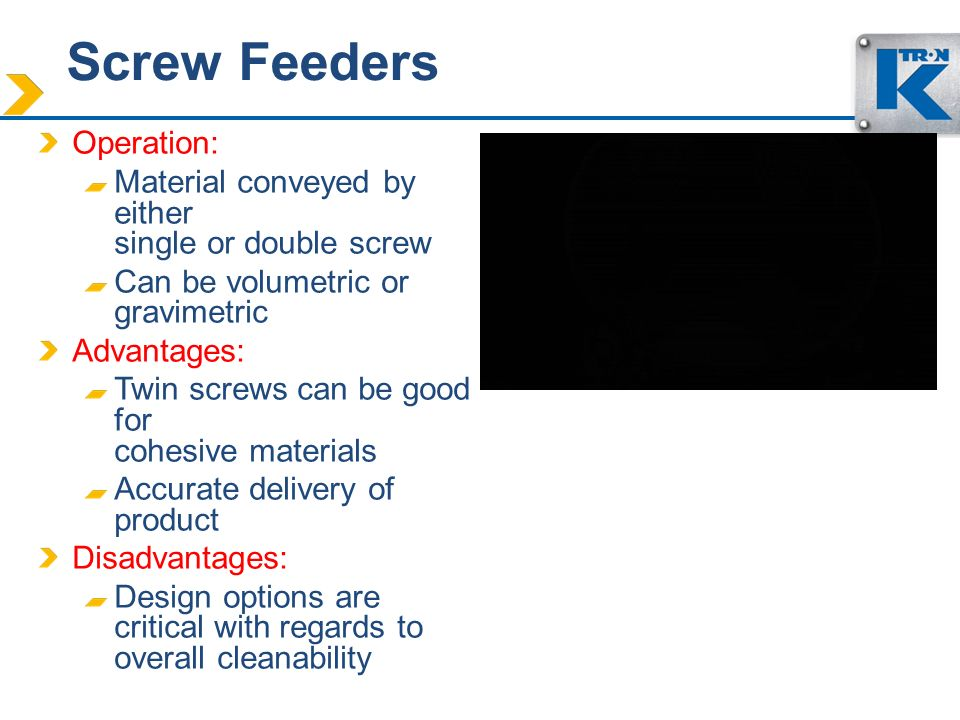 Screw Feeders Operation: