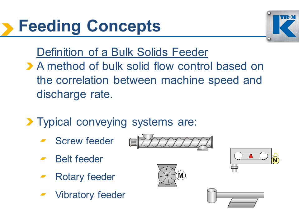 Feeding Concepts Definition of a Bulk Solids Feeder