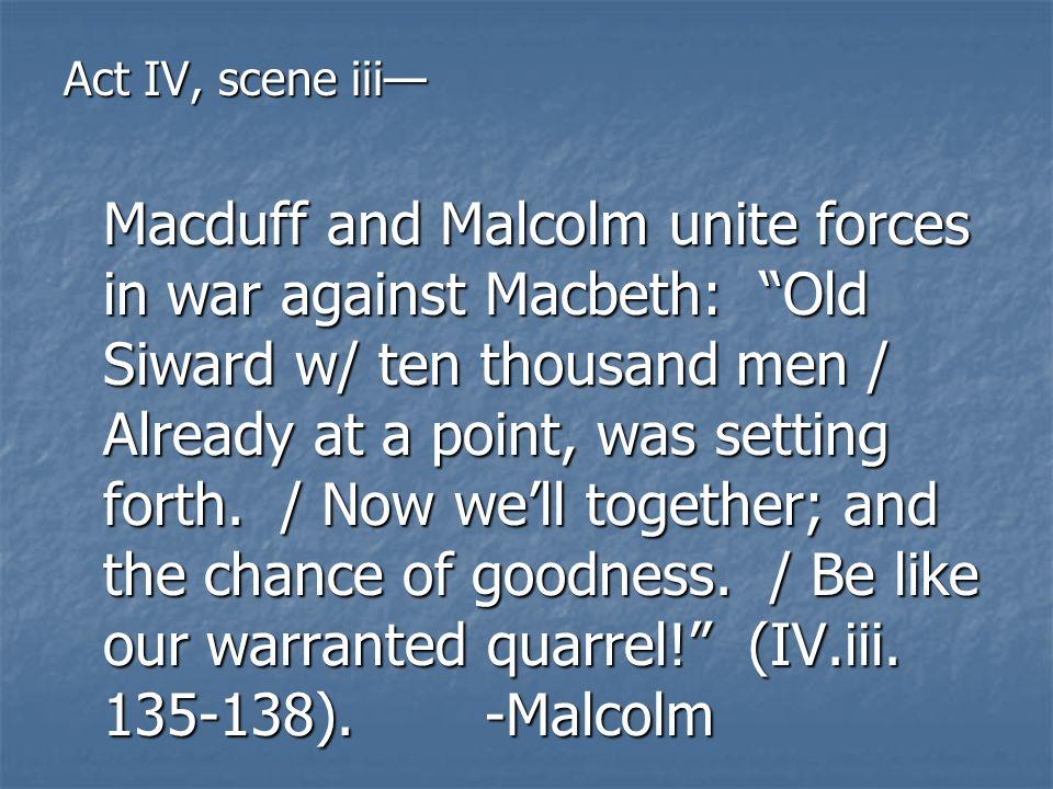 Act IV, scene iii—