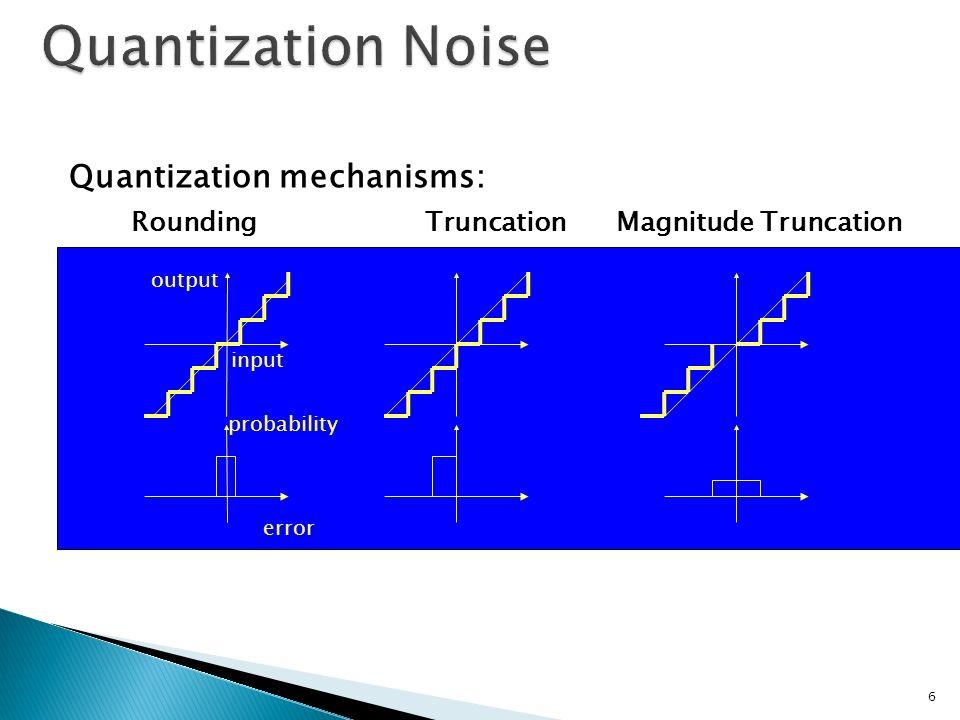 Quantization Noise Quantization mechanisms: