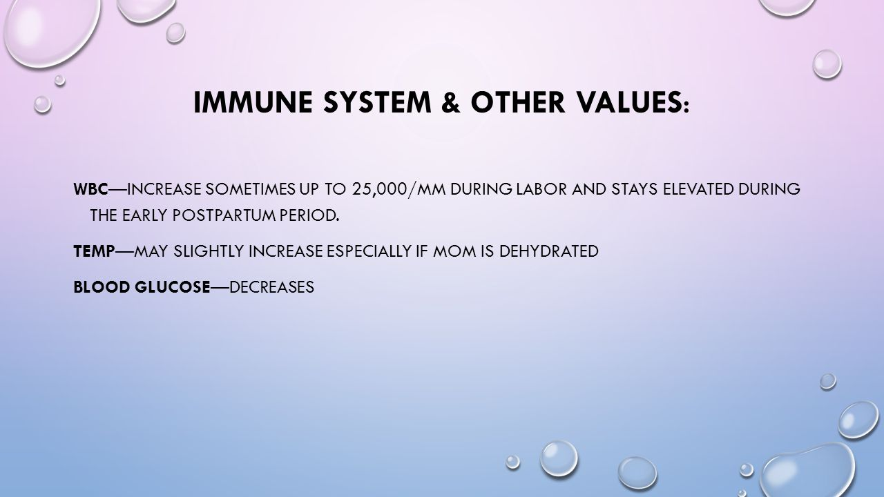 Immune System & other Values: