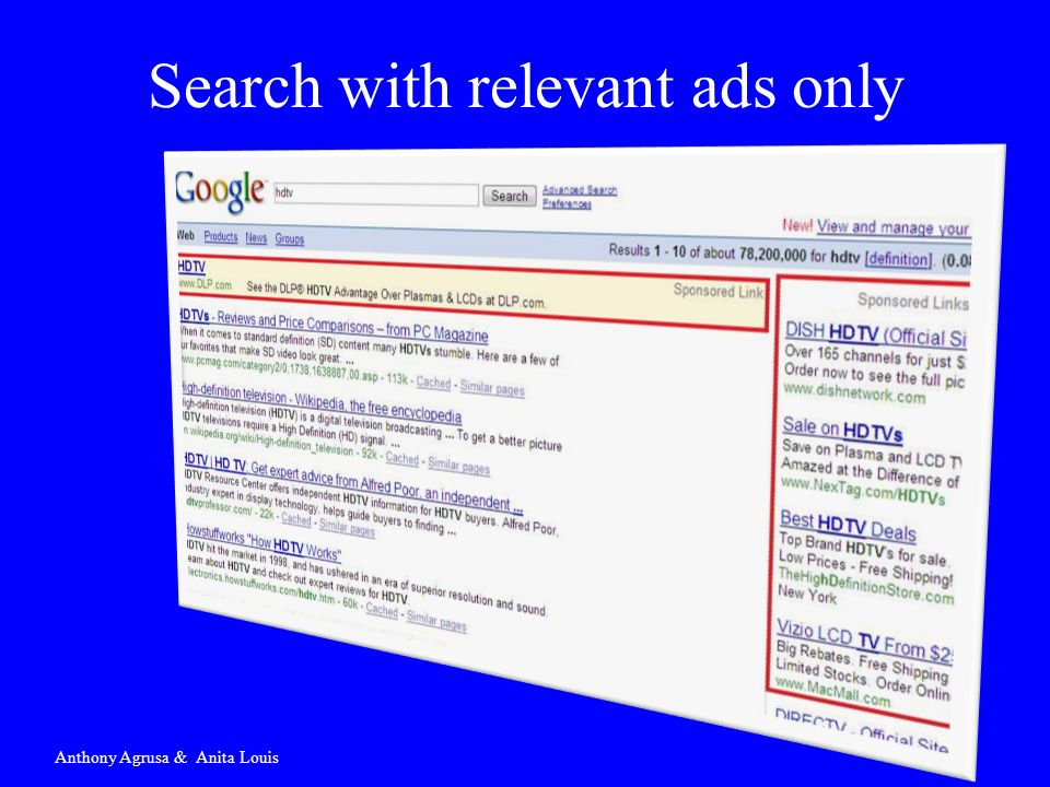 Search with relevant ads only