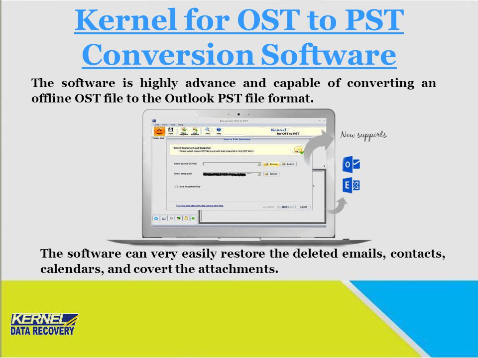 Kernel for OST to PST Conversion Software
