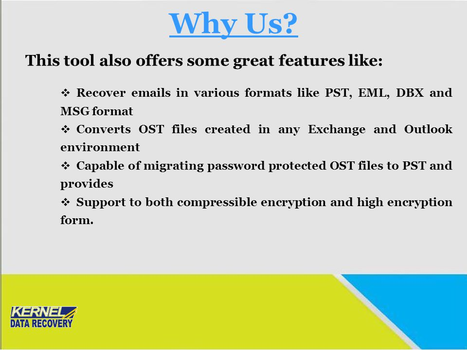 Why Us This tool also offers some great features like: