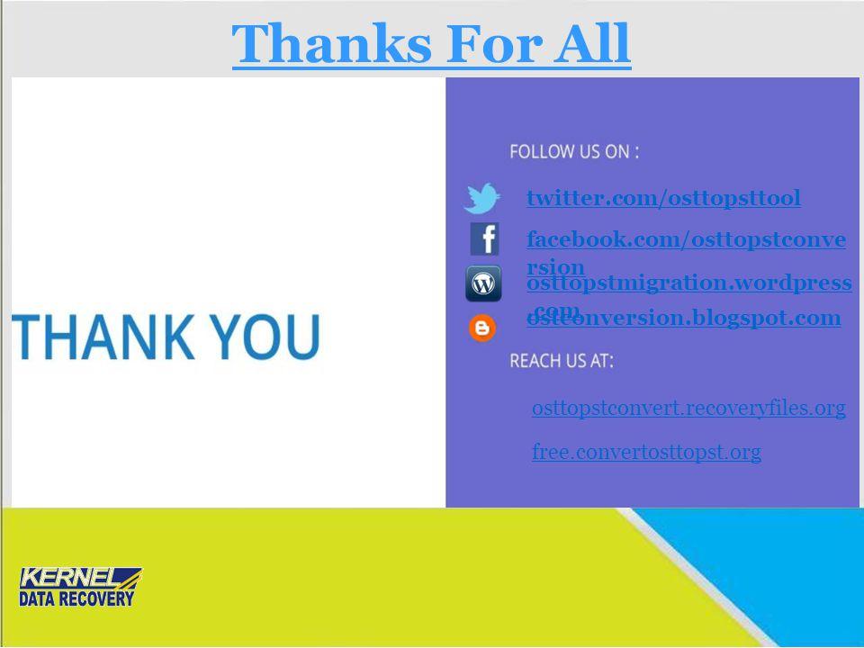 Thanks For All twitter.com/osttopsttool