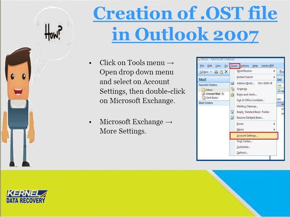 Creation of .OST file in Outlook 2007