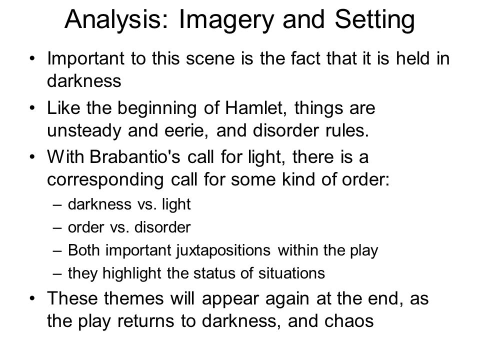 Analysis: Imagery and Setting