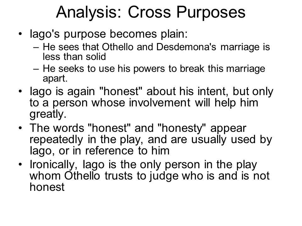 Analysis: Cross Purposes