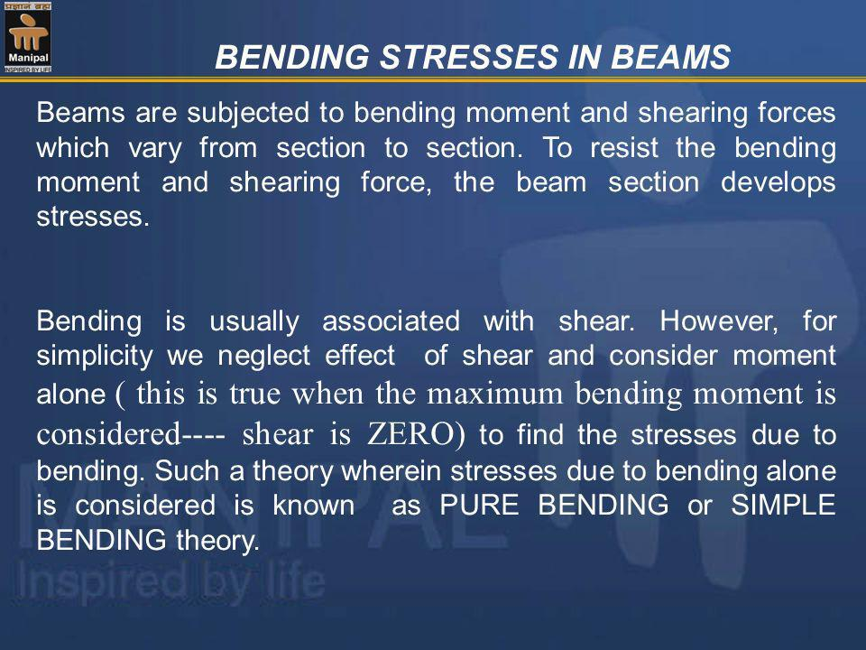 BENDING STRESSES IN BEAMS