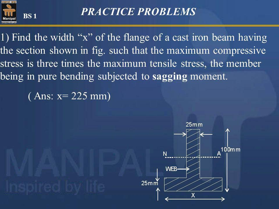 PRACTICE PROBLEMS BS 1.