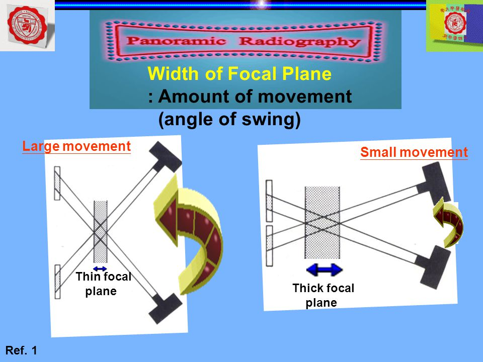 Width of Focal Plane : Amount of movement (angle of swing)