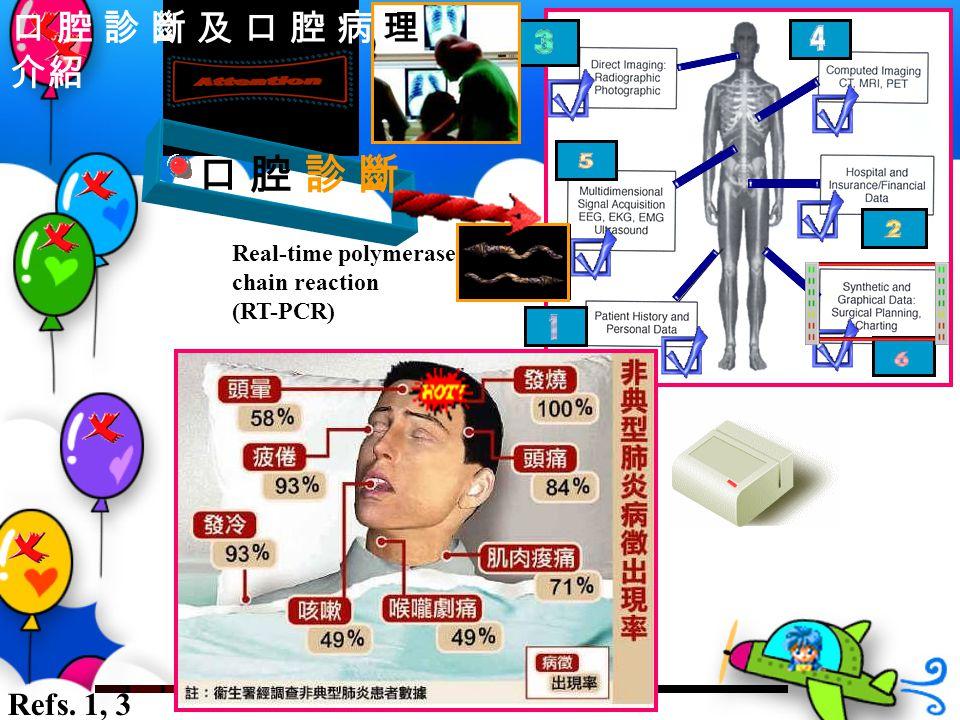 口 腔 診 斷 口 腔 診 斷 及 口 腔 病 理 介紹 Refs. 1, 3 Real-time polymerase