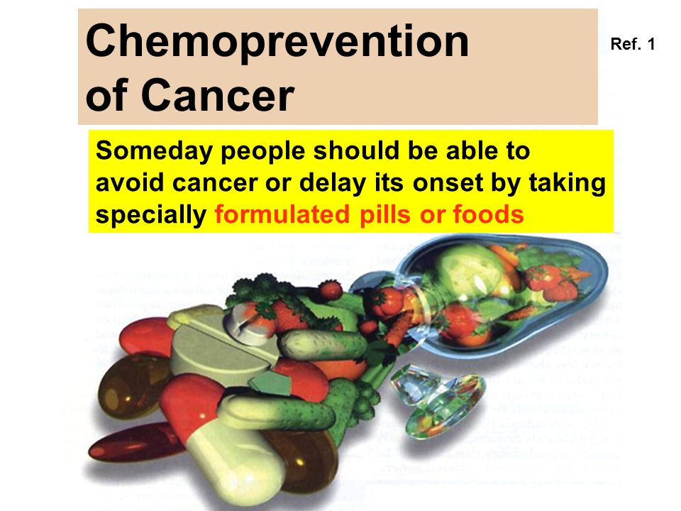 Chemoprevention of Cancer Someday people should be able to