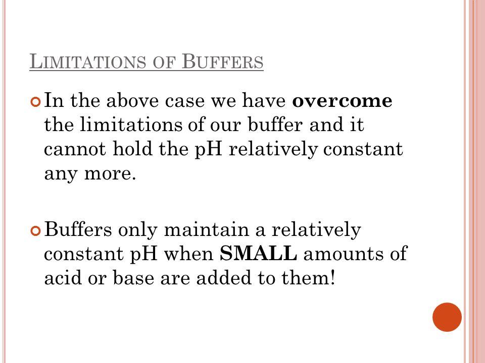 Limitations of Buffers