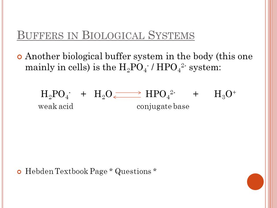 Buffers in Biological Systems