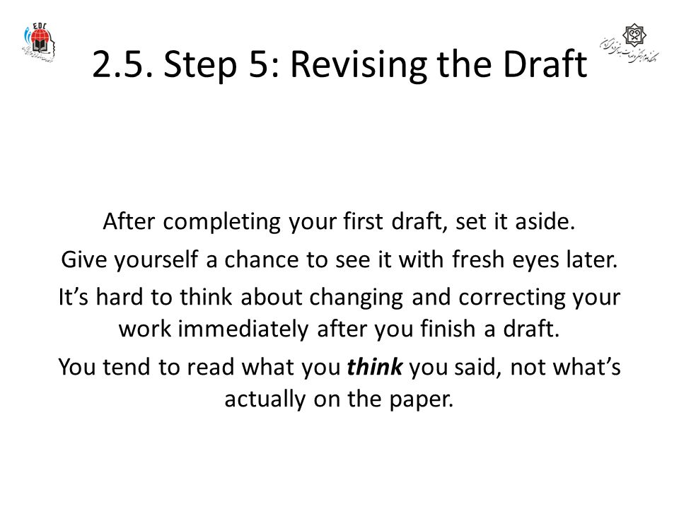 2.5. Step 5: Revising the Draft