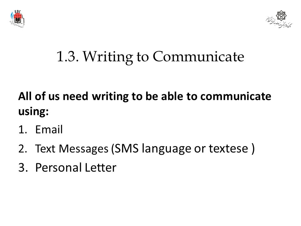 1.3. Writing to Communicate