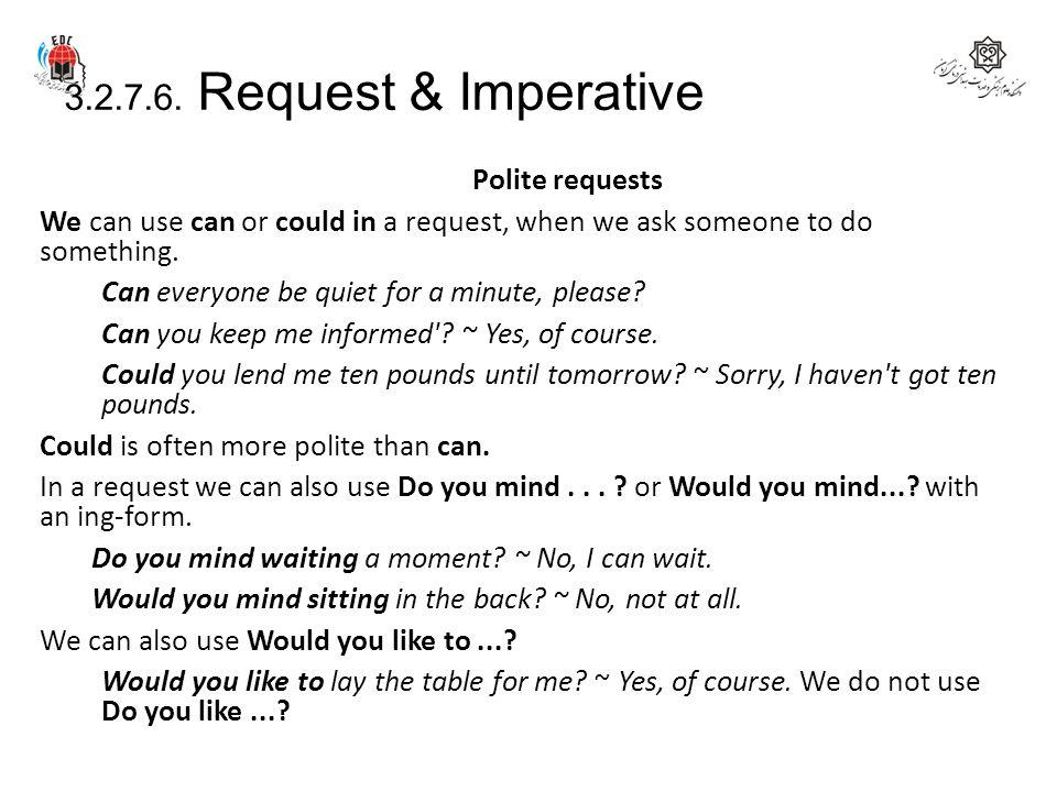 3.2.7.6. Request & Imperative