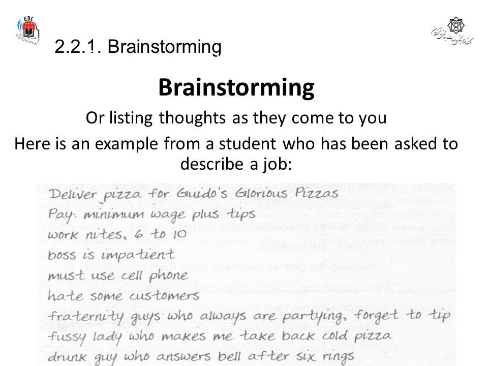 Brainstorming 2.2.1. Brainstorming