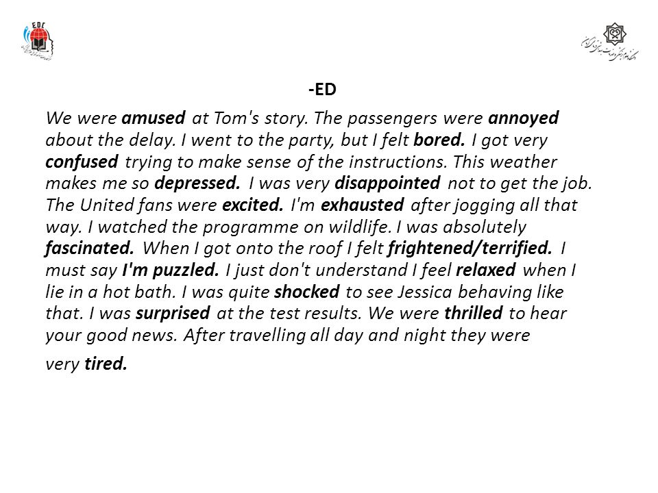 -ED We were amused at Tom s story