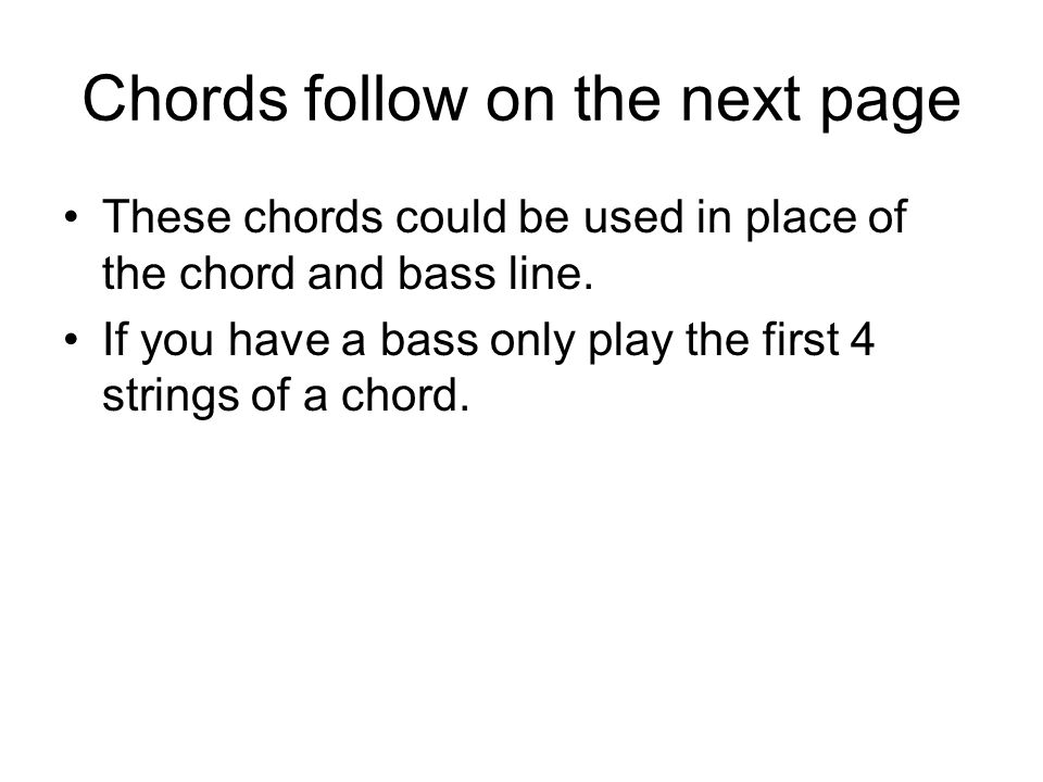 Chords follow on the next page