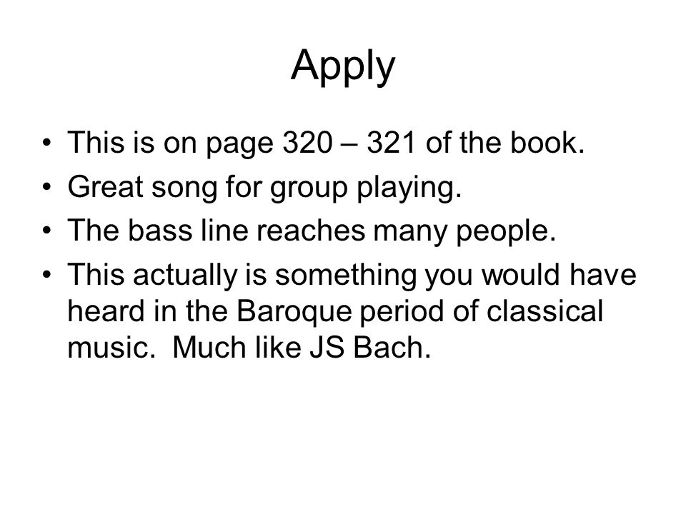 Apply This is on page 320 – 321 of the book.