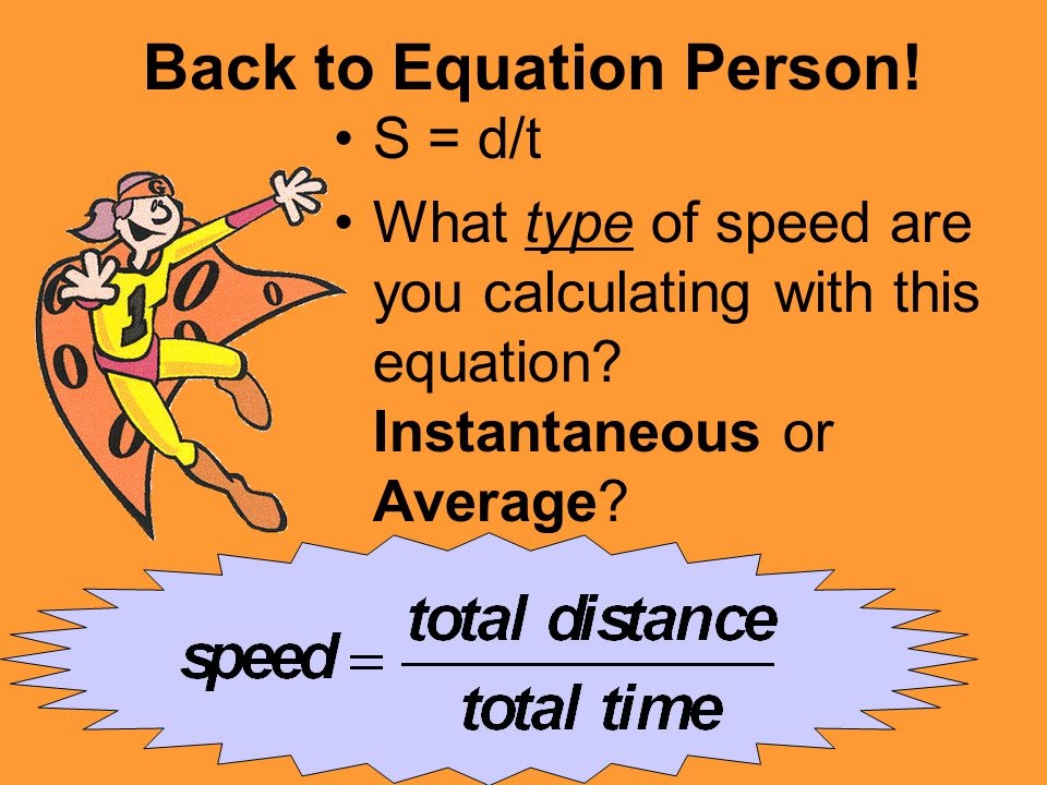 Back to Equation Person!
