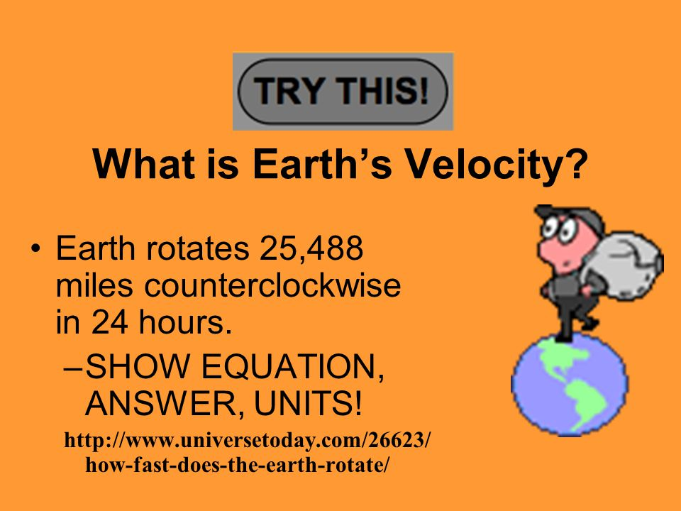 What is Earth's Velocity